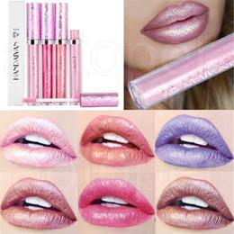Wholesale Shimmer Sticks - Wholesale HANDAIYAN Diamond Shining Ryukin Pearly-luster Long Lasting Lipsticks 6 Colors Shimmer Lip Cosmetics LIP STICK in stock