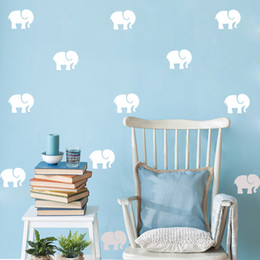 Wholesale Removable Wall Sticker Material - Wholesale 9pcs set Cartoon Elephant Wall Sticker Easily Apply Removable & Waterproof PVC No Pollution Material For Kids Baby Room Decoration