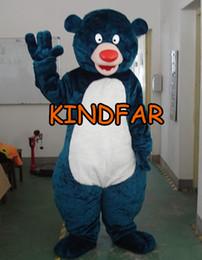 af62a2e095 All'ingrosso-Big Bear del costume della mascotte adulta del vestito operato  dei cartoni animati partito del vestito della spedizione gratuita vestito di  ...