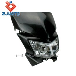 Wholesale Motorcycle Universal Vision Headlight - ZJMOTO Dirt bike Off Road Motorcycle Universal Vision Black Headlight For KX XR CRF WR YZ RMZ KXF DTR DR DRZ 250