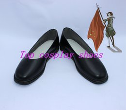 Wholesale Axis Accessories - Wholesale-axis power hetalia China Wang Yao cosplay shoes boots shoe boot black custom made #SWJ02