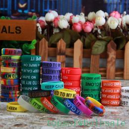 Wholesale Customize Rubber Bracelets - Personalized silicone bracelet, customized silicone band , cheap rubber band vape band, vape band ring, vape band silicone ring 500pcs dhl