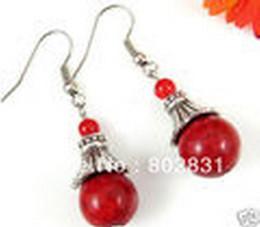 Wholesale Drop Coral Earring - Free P&P Wholesale 10Pair 20PCS Asian Turquoise   Jade   Lazuli   Coral Beads Drop Earrings