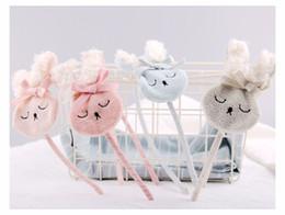 Wholesale bunny ornaments - Cartoon Baby Girls Hair accessories Korean Rabbit Bow Children hair Stick Sweet Bunny Kids Birthday party Hairs ornament C2564