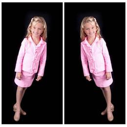 Wholesale Online Suit - Pink Bow Girls Formal Pageant Dresses Short Mini V-Neck Pleated Formal Girls Interview Suit Formal Short Teenager Children Custom Online