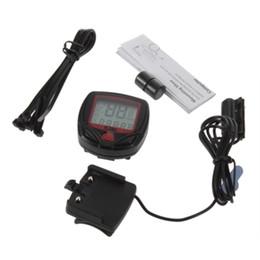 Wholesale Wholesale Odometer Tool - Digital LCD Clock Stopwatch Bicycle Computer Odometer Bike Meter Speedometer for walking best tools & can drop ship