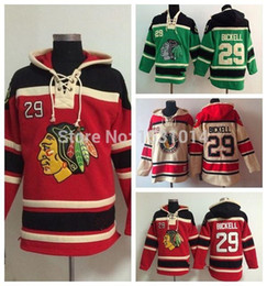 Wholesale cheap fleece hoodies - Factory Outlet, Cheap Chicago Blackhawks Old Time #29 Bryan Bickell Fleece Authentic Hockey Hoodie Heavyweight Bryan Bickell Stitched Hoodie