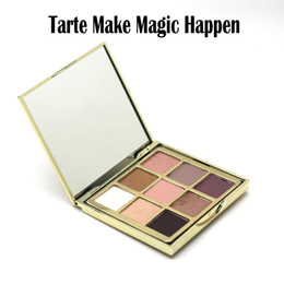 Wholesale Eye Shadow Pcs - 1 pc Tarte Make Magic Happen Eyeshadow Palette 9 Colors Eye Shadow Bronzers & Highlighters Palette Limited Edition Hot Sale DHL Free