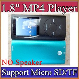 Wholesale Mp3 Player Without Earphone - 1.8 inch Screen 4th mp3 mp4 Player with card slot without speaker Voice Recorder 9 colors USB Cables+Earphones+Retail Boxes A-MF
