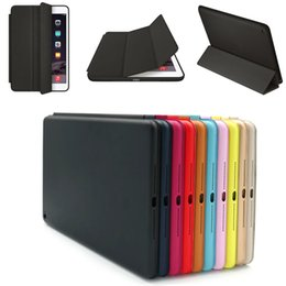 Wholesale Ipad Silicone Protector Cover - Magnetic Leather Smart Case Cover Wake Protector for iPad Air 2
