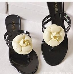 Wholesale Floral Bowtie - Women shoes 2016 summer new sandals flops sandals flat slippers shoes size 35-40 woman Free shipping