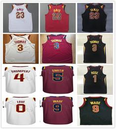 Wholesale Xxl Love - 2017-18 23 Lebron James Jersey 9 Dwyane Wade Isaiah Thomas Derrick Rose Kevin Love Iman Shumpert Jr Smith Black Red White Basketball Jerseys
