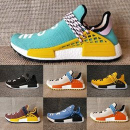 Wholesale Royal Ink - 2017 NMD Human Race Trail Running Shoes core black noble ink sun glow black yellow Ultra boost men women Trainers Sneakers Size 36-47