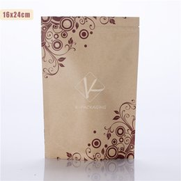 Wholesale Custom Print Paper Bags - 5 pcs Custom Paper Bags with Printing 16x24cm Stand up Foil Tea Packaging Paper Bag   Custom Paper Bags