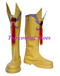 Wholesale Costume Hetalia - Wholesale-Freeshipping custom-made anime APH Hetalia Shiny Germany Deutschland Yellow Cosplay Boots shoes for Halloween Christmas festival