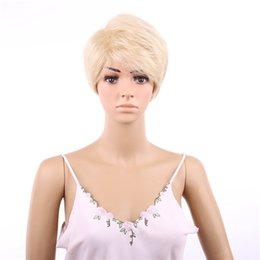 Wholesale Short Wigs Wholesale - Short Wigs Wigs Fashion Women Party Sexy Short Straight Mixed Synthetic Hair Full Wig Ladies Short Wig Blonde Fashion Wigs