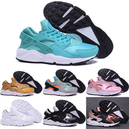 Wholesale Womens Shoes Size 11 Tennis - 2016 New Running Shoes Men Womens 100% Original Air Huarache Quality For Sale Cheap Triple Shoes Sport Shoes Free Shipping Size 5.5-11