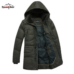 Wholesale Rabbit Fur Coat Men - Wholesale- Speed Hiker Down Coat Men 2016 Winter Top quality Removable Hat White Duck Down Zipper Pocket Rabbit Fur Collar 3XL K8041