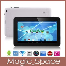 Wholesale Google Android Wifi Tablet - newest 9inch A33 Quad Core Tablet pc 512MB 8GB with Bluetooth Google Allwinner Dual camera Android 4.4.2 WIFI in stock a57c