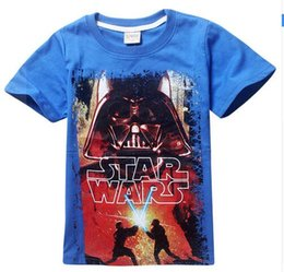 Wholesale Nova Kids Clothes - New 2016 boys star wars clothing t shirt girls kids nova star wars top t-shirt children summer t shirt star wars meninos roupas