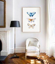 Wholesale Butterfly Canvas Wall Art - Watercolor Butterfly Canvas Art Print Painting Poster, Wall Pictures for Home Decoration, Giclee Print Wall Decor