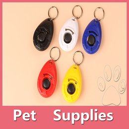 Wholesale Dog Clicks - Colorful Hot Sales Pet Supplies Dog Cat Puppy Click Clicker Training Obedience Trainer Aid Tools Plastic Mixed Colors DHL Free 161012