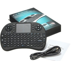 Wholesale Mini Pc Air Mouse - Rii I8 i8+ Fly Air Mouse Mini Wireless Handheld Keyboard 2.4GHz Touchpad Remote Control For M8S MXQ MXIII TV BOX Mini PC 1pc