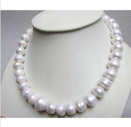 "Wholesale Natural Baroque Pendant - 15-16 MM NATURAL SOUTH SEA WHITE BAROQUE PEARL NECKLACE 18"" 14K GOLD CLASP"