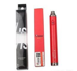 Wholesale Ego Twist Free Dhl - Top Quality vision Spinner 2 Battery eGo C Twist Electronic Cigarette 3.3~4.8V Variable Voltage 1600mAh spinner 2 ii batteries DHL Free