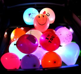 Wholesale Lighting Decoration Products - Wholesale LED Lights Colorful Flashing Lights Balloons Weddings Weddings Parties Decorations Holiday Products Color Balloons free shipping
