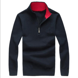 Wholesale Horse Pullover - Free shipping 2017 new high quality mile wile polo brand men's twist sweater knit cotton sweater jumper pullover sweate Big color horse game