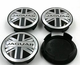 Wholesale Abs S - 4pcs 58mm OEM quality England flag Wheel Center Covers Hub Caps Emblem For Jaguar XF XJ F-Type XKR S TYPE X TYPE XJ8 XK8