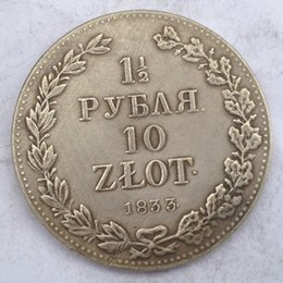 Wholesale Antiques Poland - Poland 1 1 2 Coin 1833 Crafts Free Shipping 5pieces bale Promotion Cheap Factory Price nice home Accessories Silver Coins