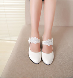 Wholesale Rhinestone Bow Shoes Girls - Hot Sale Girls Fashion Rhinestone Single Shoes Children Leather Shoes Girls Shoes Children Princess Flat Shoes Kids casual shoes