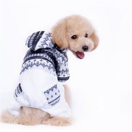 Wholesale Dog Leg Warmer - A50 dog warm winter clothes winter coat for 4 legs Dog Snowflake pattern Pet Dog Winter Clothing pet coat