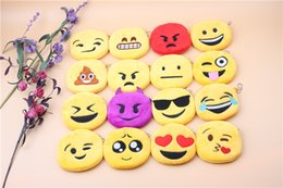 Wholesale Mixed Cheap Fabric Wholesale - Cheap sale Mix QQ expression Coin Purses cute emoji coin bag high quanlity plush pendant for christmas best gift