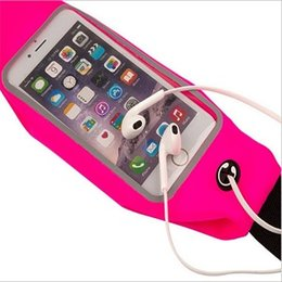 Wholesale Jack Bag Wholesale - Sport Running Waistband For iphone 6 6S plus Waterproof Waist Belt Pouch Bag Samsung Galaxy s5 s6 edge Touch Window Earphone Jack