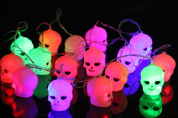 Wholesale Glow Tree - 2016 Halloween Skeleton glow Halloween pumpkin lamp decoration light pumpkin led lamps ghost light spot bar decoration items