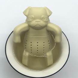 2019 passoires à thé nouveauté Dessin Animé Pekingese Dog Infuser De Beaux Passoires À Thé En Silicone Infuseur À Thé Kawai Portable Chien Passoires À Thé