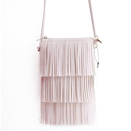 Wholesale Wholesale Selling Vintage Bags - Wholesale free shipping hot sell Mini Vintage Tassel Bags Women Messenger Crossbody Bag Handbag Small Phone Bag