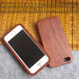 Wholesale Iphone 5c Shell For Sale - Hot Sale 100% Wood bamboo Cover For Apple Iphone 5C 5s 5 Nature Wooden Case Luxury Handmade Wood Case Housing Shell Protector