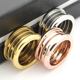 Wholesale Vintage Gold Wedding Bands - Titanium steel Hot Fashiion Eleastic Brand luxury wedding spring rings for woman jewelry brand Vintage Jewelry The Latest 18k gold Love Ring