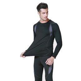 Wholesale High Quality Thermal Long Sleeve - Wholesale-new High quality men and women thermal underwears sports apparel winter warm Hot-Dry technology surface long johns outdoor suit