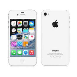 Wholesale Dual Sim Ios - Original Apple iPhone 4S Dual core 32GB 3.5 inch 8.0MP IOS 8 Single SIM Best Quality iPhone 4S unlocked phone