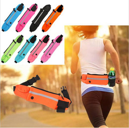Wholesale Sports Armband Pouch Case - Outdoor Running Waist Bag Waterproof Mobile Phone Holder Jogging Belt Belly Bag Women Gym Fitness Bag Lady Sport Accessories