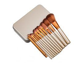 Wholesale Dhl Portable - N3 Makeup Brush Set N3 Makeup Brushes Set Portable Brushes Kit Beauty Cosmetic Brushes 12pcs With Free DHL Shipping