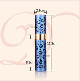 Wholesale Empty Bottle Perfume 15ml Spray - 300pcs leopard print Aluminum Empty Perfume Refillable Bottle 15ml Perfume Atomizer Spray Bottles empty bottles