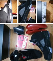 Wholesale Sheos Man - Wholesale 2016 Air retro 5 OG Black Metallic men and woman basketball Shoes sports sheos with box size 36- 47 free shipping