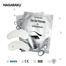Wholesale Eyelashes Extensions For Sale - NAGARAKU Hot Sale 50 pairs lot silk eye pads, under eye patch,lint free under eye gel patches for eyelash extension