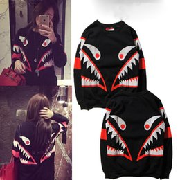 Wholesale Girl Hiking - 2017 new European fashion street fashion brand MOS small monster shark teeth and cashmere sweater female stamp